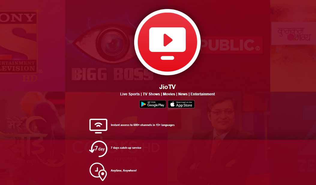 Play JioTV on computer